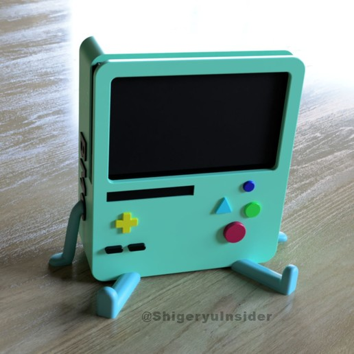 BMO_StandNew.jpg Download STL file BMO Stand for Nintendo switch • 3D printing template, Shigeryu