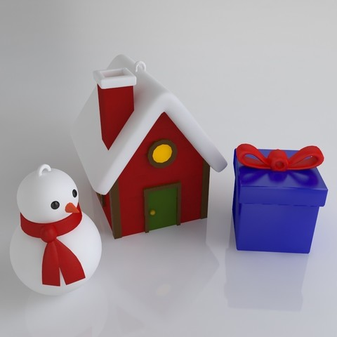 GiftPack.jpg Download STL file Pack décoration pour Noël • 3D printable model, Shigeryu