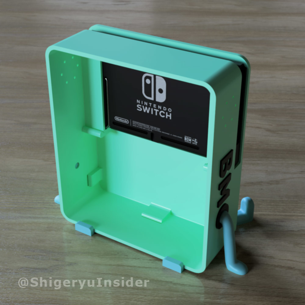 Back.jpg Download STL file BMO Stand for Nintendo switch • 3D printing template, Shigeryu