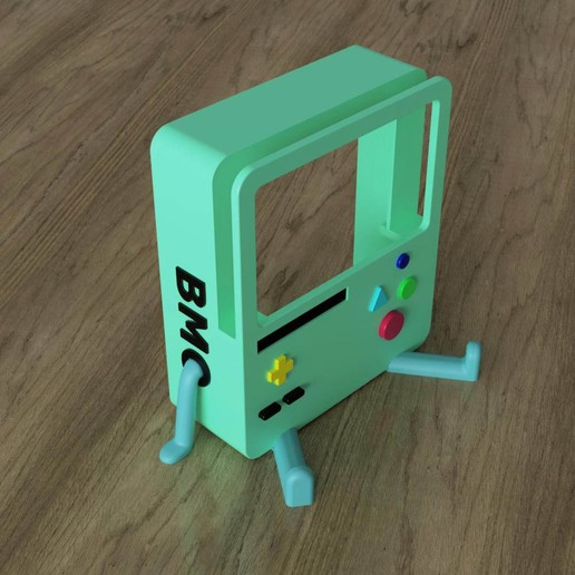 BMO_Stand(assembled).jpg Download STL file BMO Stand for Nintendo switch • 3D printing template, Shigeryu