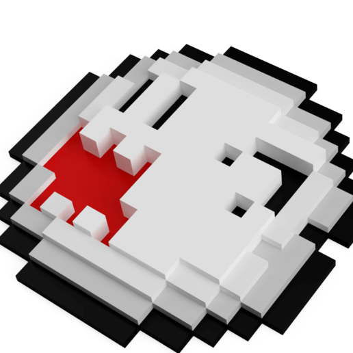 PixelBoo_2019-Aug-29_04-42-07PM-000_CustomizedView24905923420.png Télécharger fichier STL gratuit Pixel Boo • Modèle imprimable en 3D, Shigeryu