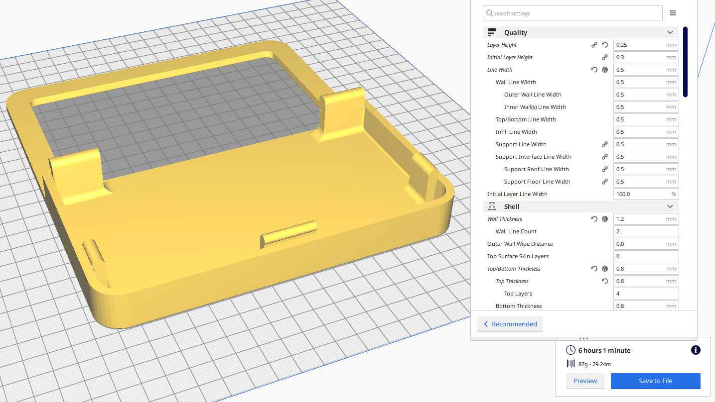 CURA_FrontPart.jpg Download STL file BMO Stand for Nintendo switch • 3D printing template, Shigeryu