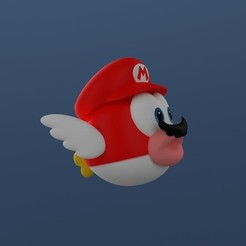 01.jpg Download STL file Cheep-cheep (Mario odyssey) • 3D print model, Shigeryu