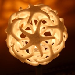Free 3D printer designs Double star lamp, Protonik