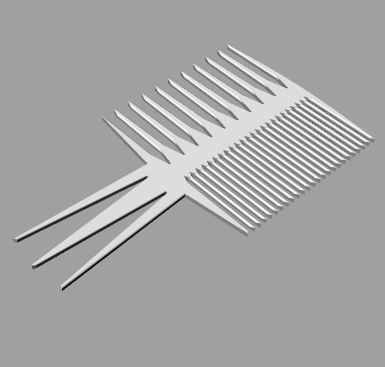 grzebien_comb.JPG Download free STL file Perfect Comb • 3D print template, Protonik