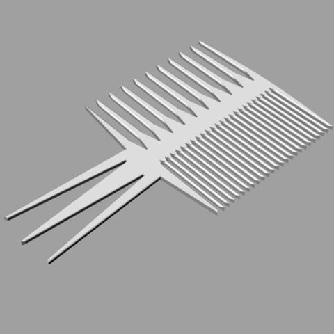 Free Perfect Comb 3D printer file, Protonik