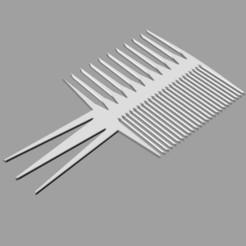 Download free STL file Perfect Comb • 3D print template, Protonik