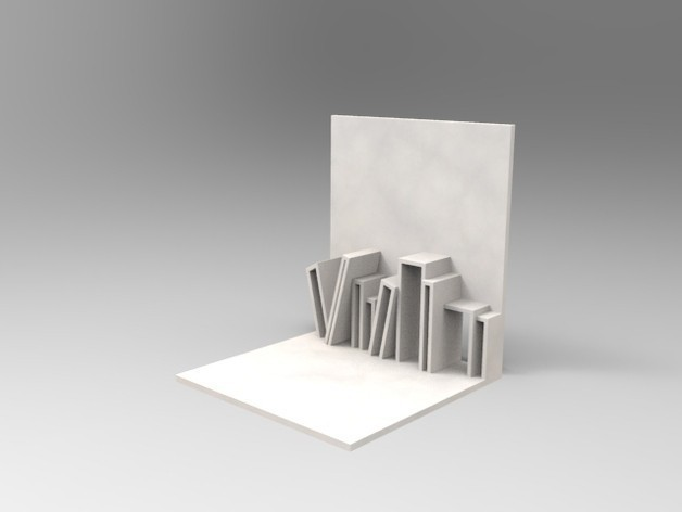BookEnd_preview_featured.jpg Download free STL file Stack shaped Book End • 3D printer model, 3dshilp