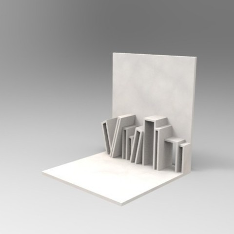 Free stl file Stack shaped Book End, 3dshilp