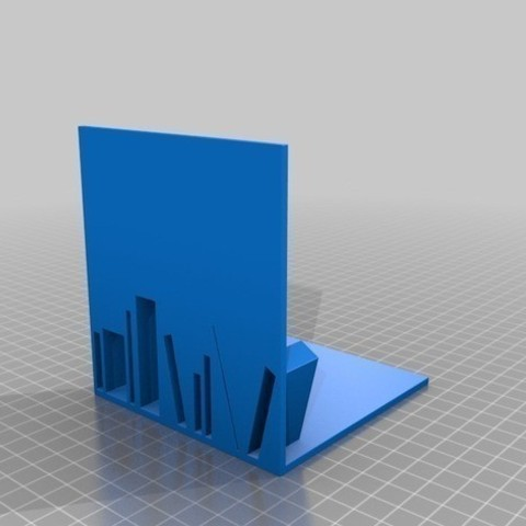 Book_End_Small_preview_featured.jpg Download free STL file Stack shaped Book End • 3D printer model, 3dshilp
