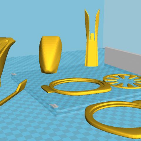 2313.png Download STL file Futuristic aircraft DIY 3d model • 3D printer object, NewCraft3D