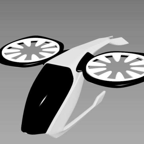 2.png Download STL file Futuristic aircraft DIY 3d model • 3D printer object, NewCraft3D