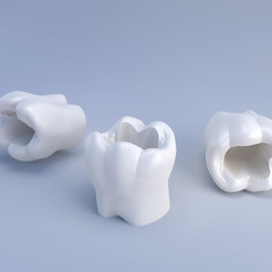 Download STL file Toothbrush mug - Gobelet à brosses à dents • Object to 3D print, Eyjafjoll