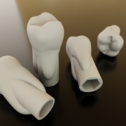 Download STL file Tooth fused pencil tip (molar) • 3D printing object, Eyjafjoll