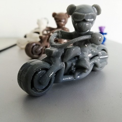 photo2.jpg Download free STL file Teddy bear biker • 3D print design, Steph
