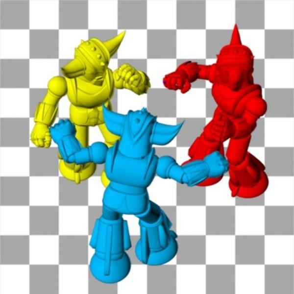 3Goldorak.jpg Download free STL file Figurine Mini Goldorak • 3D print design, Steph
