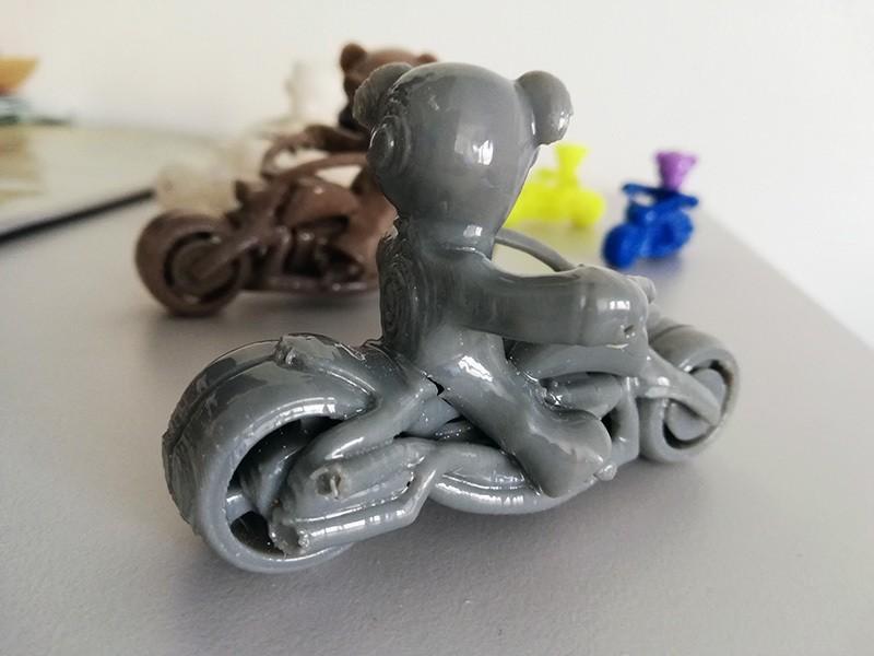 photo3.jpg Download free STL file Teddy bear biker • 3D print design, Steph
