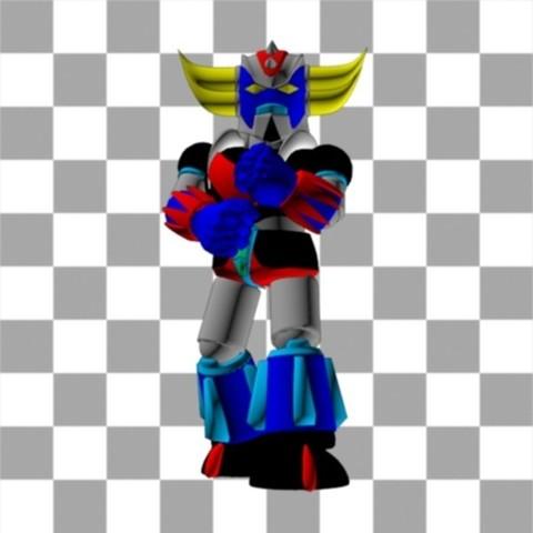 Goldorak_8couleurs.jpg Download free STL file Figurine Mini Goldorak • 3D print design, Steph