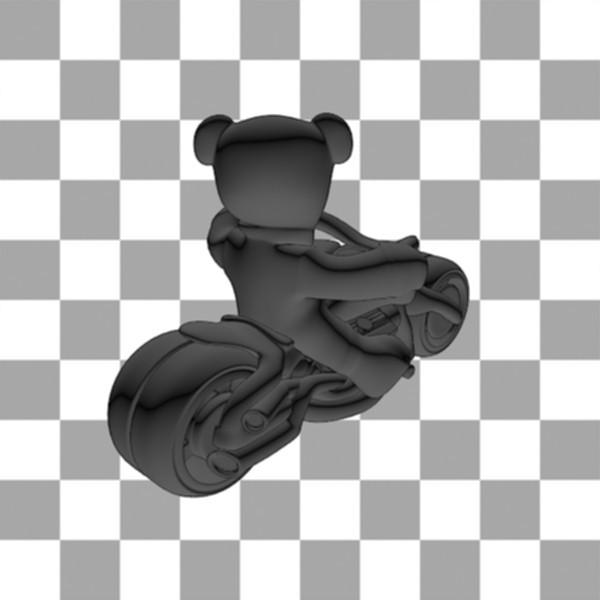 Teddy Bear biker3.jpg Download free STL file Teddy bear biker • 3D print design, Steph