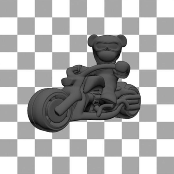 Teddy Bear biker1.jpg Download free STL file Teddy bear biker • 3D print design, Steph