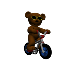 3d model Teddy Bear BMX 6 Colours, Steph