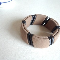 Free STL files flexible kimekomi bracelet_01, masa_4dc
