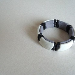 Free 3D printer files flexible kimekomi bracelet_02, masa_4dc