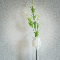 Free 3D printer designs PET VASE CAP_01_slit, masa_4dc