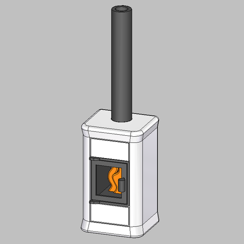 Poele Playmobil.png Download STL file Poêle pour maison Playmobil • Object to 3D print, emajo