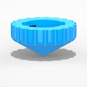 Pointe B-Blade1.png Download free STL file Beyblade Toupie Tip • 3D printing design, emajo