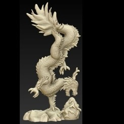 Free STL files chiniese dragon, schneck
