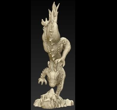 front.jpg Télécharger fichier OBJ gratuit Dragon chiniese • Modèle à imprimer en 3D, schneck