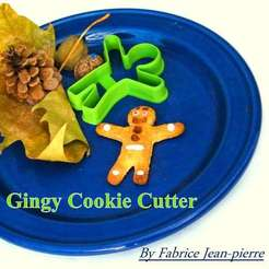 3D printer models Gingy Cookie Cutter, 3d-fabric-jean-pierre