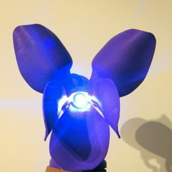 3D print model violet lamp, 3d-fabric-jean-pierre