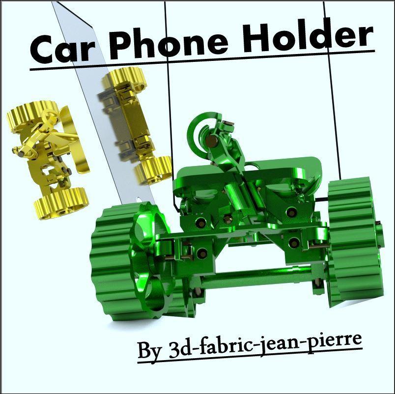 3d-fabric-jean-pierre_carphoneholder_render_Title1_Lt_car.jpg Download STL file Car Phone Holder • Template to 3D print, 3d-fabric-jean-pierre