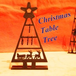 STL table christmas tree, 3d-fabric-jean-pierre