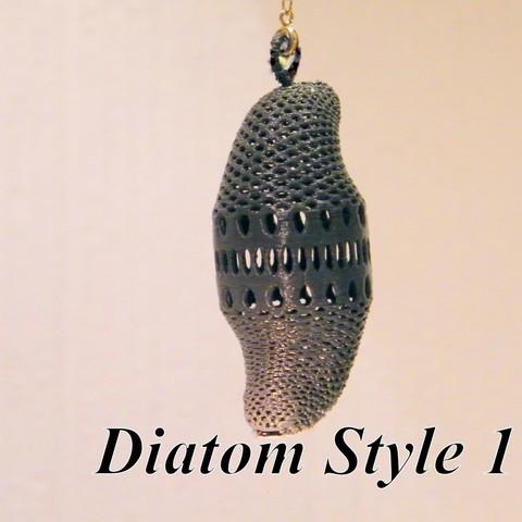 Download STL file Diatom style # 1 • 3D printing design, 3d-fabric-jean-pierre