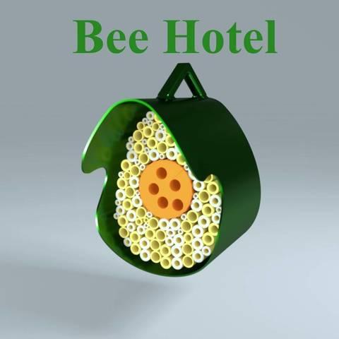 Fichier STL Bee Hotel, 3d-fabric-jean-pierre