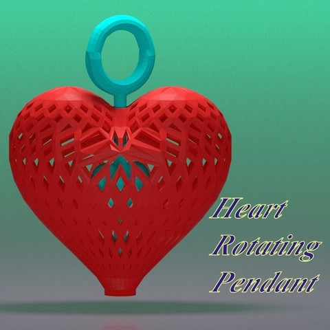 Download STL file Heart rotating during • 3D print design, 3d-fabric-jean-pierre