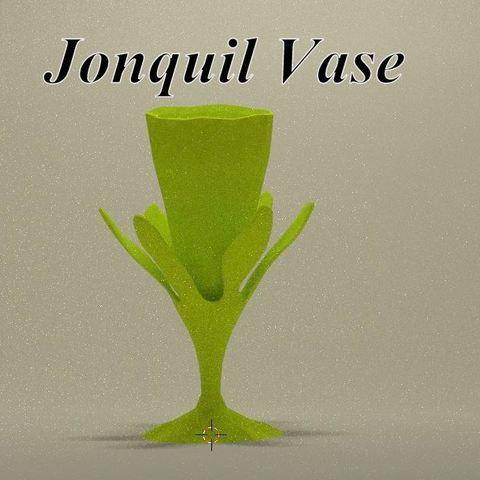 Mini_jonquille_drink_face_title.jpg Download STL file Jonquil vase • 3D printer model, 3d-fabric-jean-pierre