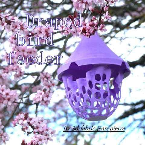 3d-fabric-jean-pierre-draped-bird-feeder-tree-title-carre-Lt.jpg Download STL file Draped bird feeder • 3D printing template, 3d-fabric-jean-pierre