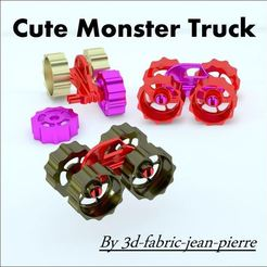 Download 3D printing models Cute Monster Truck, 3d-fabric-jean-pierre