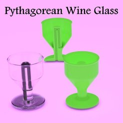 3d printer designs Pythagorean Wine Glass, 3d-fabric-jean-pierre