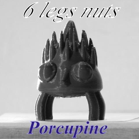 3D print model porcupine, 3d-fabric-jean-pierre