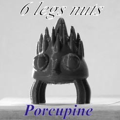 3D print model porcupine, 3d-fabric-jean-pierre