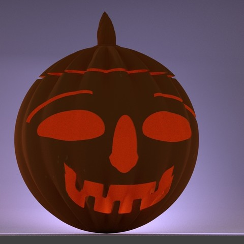 scene_pumpkin_joy.jpg Download STL file Halloween happy pumpkin • Design to 3D print, 3d-fabric-jean-pierre