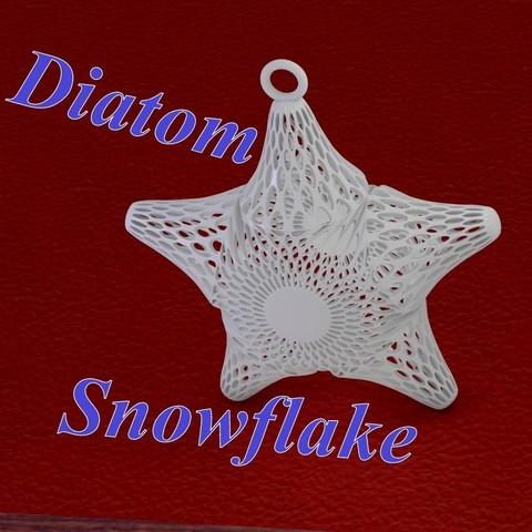 Download 3D printing files Diatom snowflake, 3d-fabric-jean-pierre
