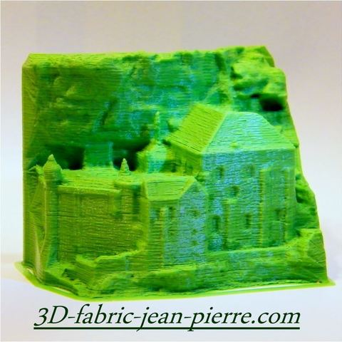 3D printing model 3Dscan Rocamadour Sanctuary, 3d-fabric-jean-pierre