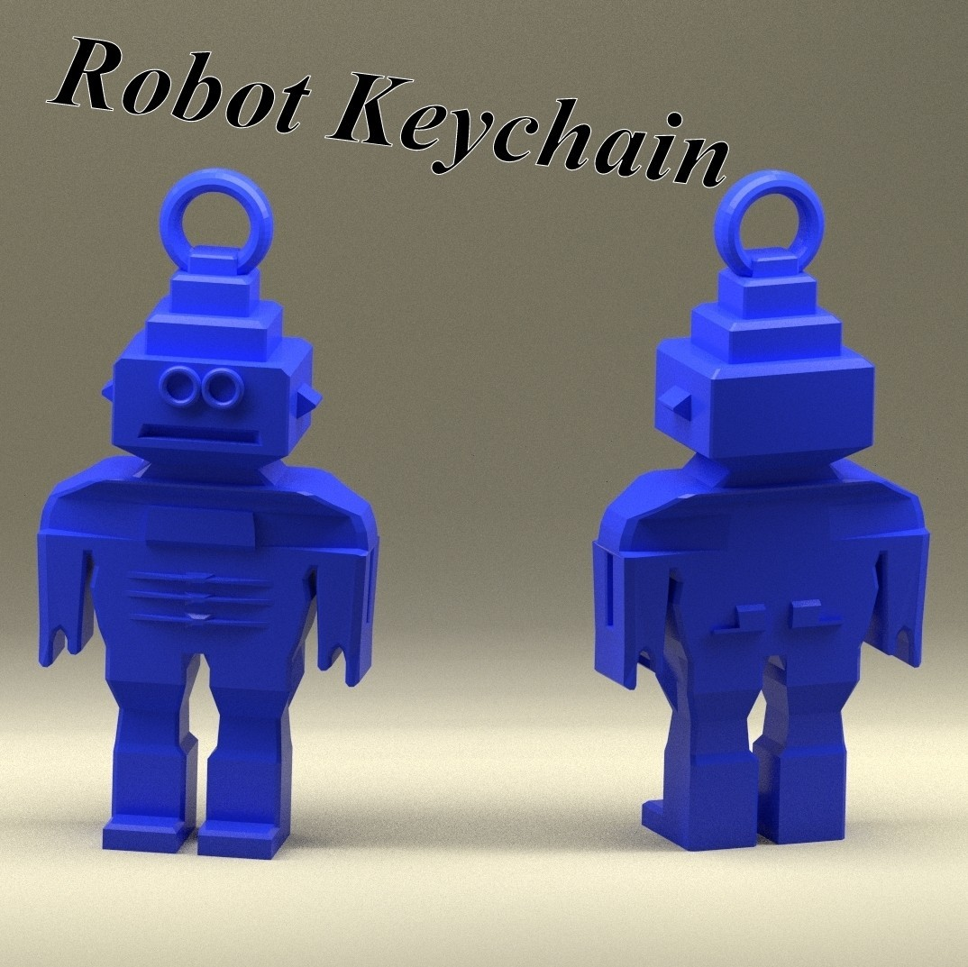 3d-fabric-jean-pierre_Robot_keychain_title_render.jpg Download STL file Keychain robot • Template to 3D print, 3d-fabric-jean-pierre