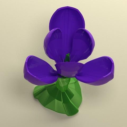 Télécharger objet 3D Crocus to posed, 3d-fabric-jean-pierre